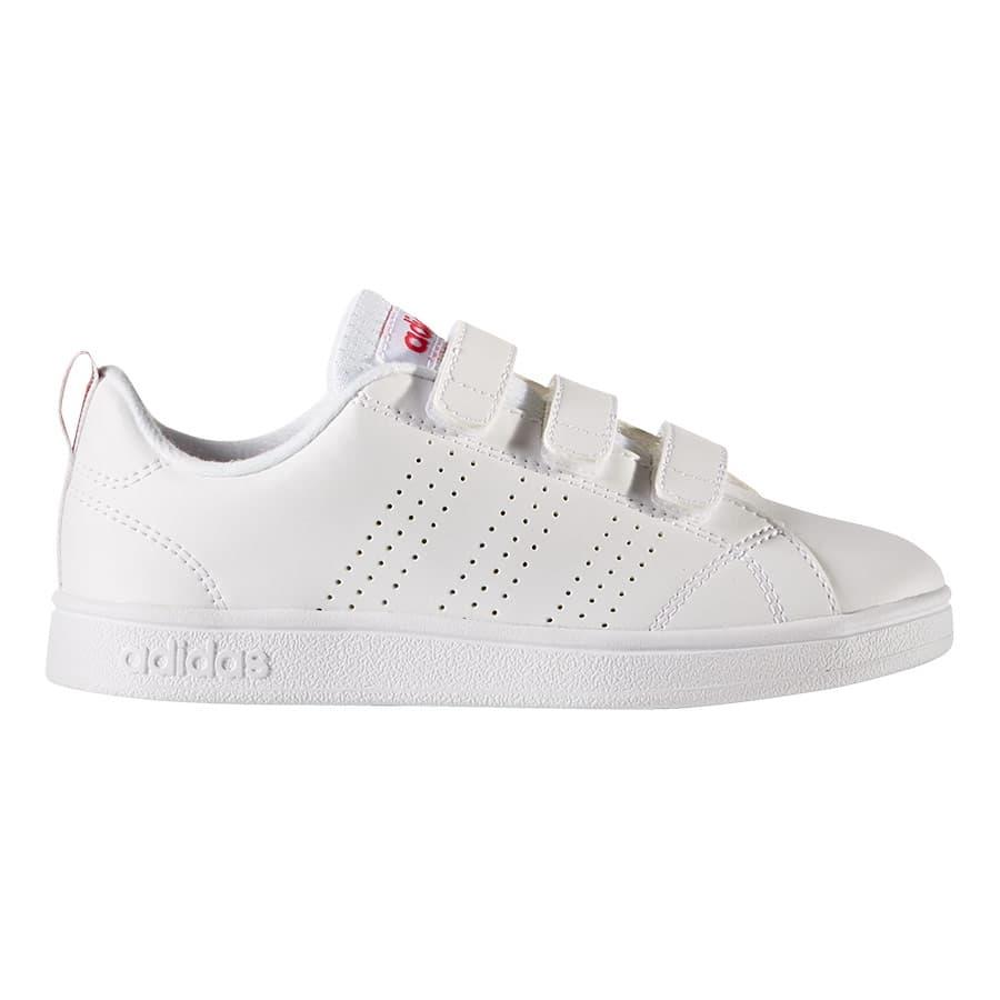 Chaussures adidas VS Advantage Clean CMF blanc rose enfant