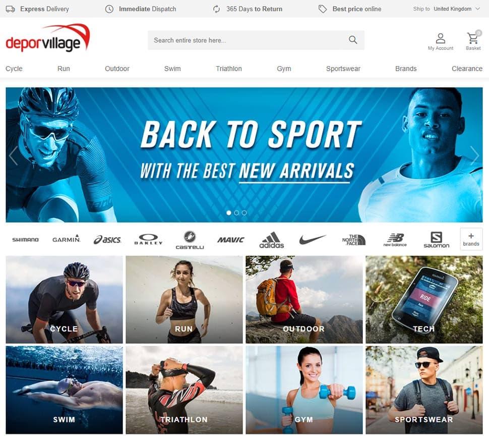 Screenshot Deporvillage.com