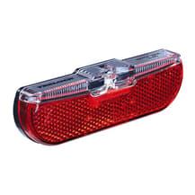 Luz traseira LED Trelock Duo Flat com dínamo preto