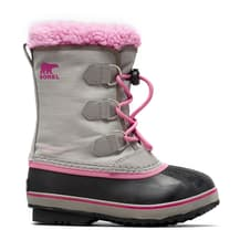 Botas Sorel Yoot Pac Nylon gris rosa infantil