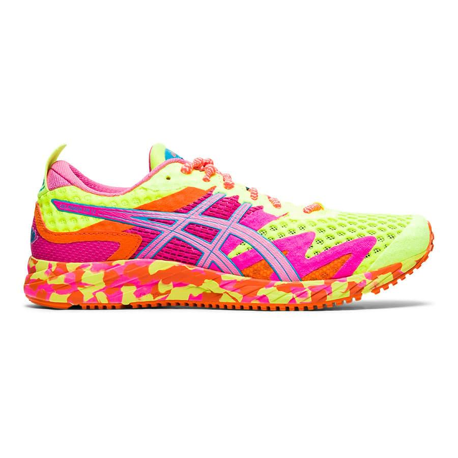 ASICS GEL Noosa Tri 12 Running Shoes Yellow Pink Orange Women