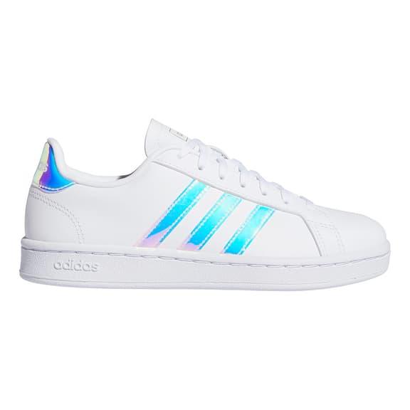 Chaussures adidas Grand Court blanc bleu ciel femme