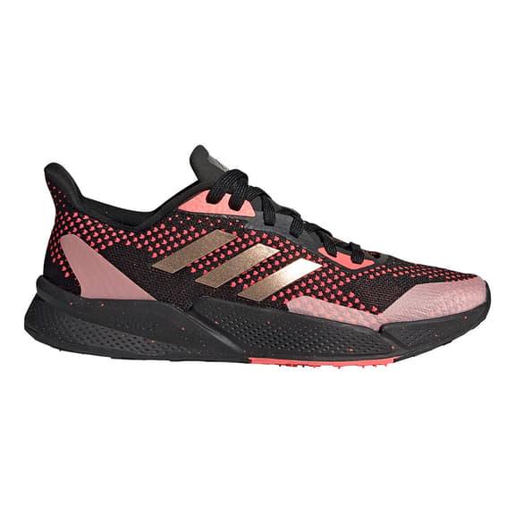 Chaussures adidas X9000L2 noir rouge doré femme