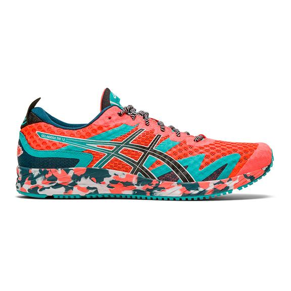 ASICS GEL Noosa Tri 12 Running Shoes Orange Light Blue