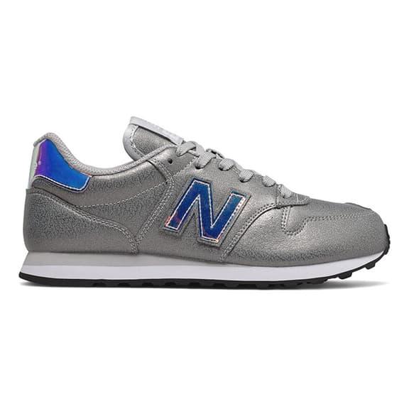 Scarpe New Balance 500 grigio argentato blu donna