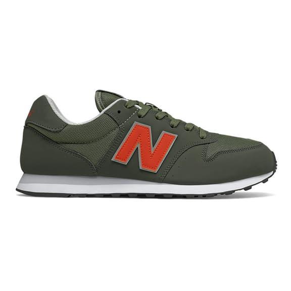 Scarpe New Balance 500 verde scuro rosso