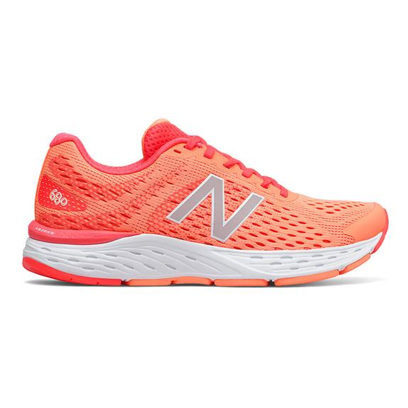 Chaussures New Balance 680 v6 rouge gris femme