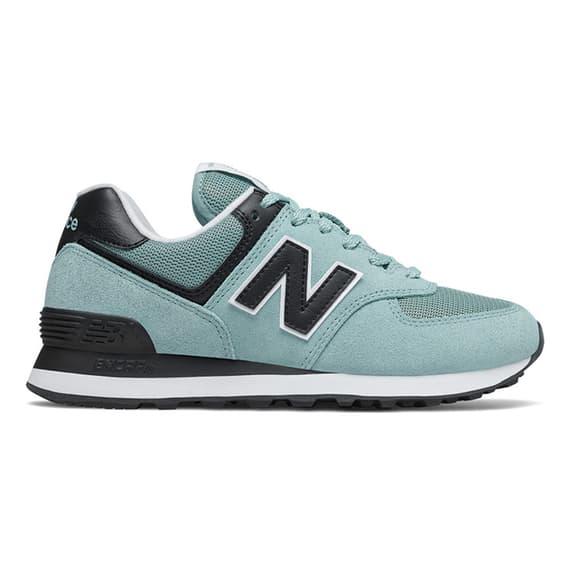 Chaussures New Balance 574 v2 bleu clair noir femme