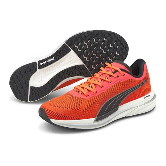 Puma Velocity Nitro Running Shoes Red White Black Women