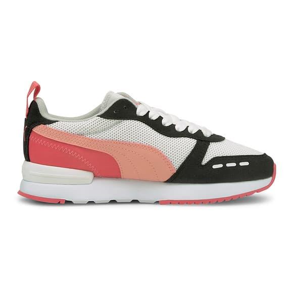 Chaussures Puma R78 noir blanc rose enfant | Deporvillage